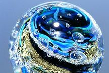 Glass Paperweights & Marbles / Artisan creations