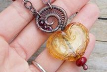 Lampwork or Seedbead Jewellery - ready to wear / Finished jewellery containing seed beads, crystals, lampwork beads