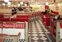 | 50s Diner Kitchen | / Red hot Diners vs pastel dream Kitchens.