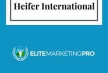 Charity - Heifer International / Elite Marketing Pro is committed to giving back. We have aligned ourselves with Heifer International. A portion of our sales goes to this amazing organization.  http://elitemarketingpro.com/heifer