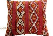 Vintage Pillows / Variety of different vintage Moroccan pillows handwoven by women from different areas from the Atlas Mountains.