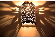 Wall Sconces / Wall Sconces handmade by Moroccan skilled artisans. Metal sconce with intricate design that offers warm and exotic glow and reflect art work to any space