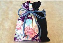 Reisebeutel / Kinchaku Reisebeutel aus japanischen Stoffen von NORIKO handmade
