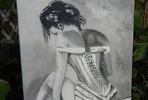 Côté peinture à l'huile, aquarelle et dessins / Peinture à l'huile et aquarelle et dessins La maison du temps passé http://veronika5.free.fr