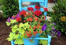 Porch and Patio Pots / unique and functional potted patio plants