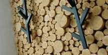 DIY projects / wood wall decoration / hall