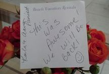 Testimonials / Real feedback from real guests of Beach Vacation Rentals properties. / by Beach Vacation Rentals