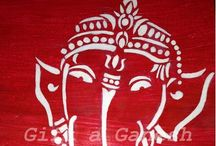 Gift a Ganesh / Beautiful paintings dedicated to Lord Ganesh. They are in the modern contemporary Indian style.