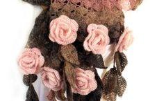 mantas,golinhas e colares de croche / by Elisabete DE  Oliveira