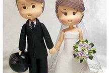 Mladomanželia figúrky