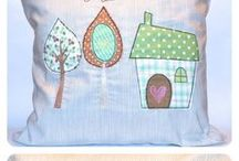 bestickte Kissen / embroidered cushion / Sticken, bestickt, embroidered, embroidery