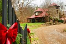 Christmas at Moonshine Hill Inn / Imagine a wonderful Christmas by a crackling fire snuggled up to the ones you love here at Moonshine Hill Inn. Visit Leiper's Fork Tennessee www.moonshinehill.com