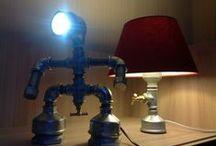 KENLAMP / Iron pipe desk lamp by Kenlamp handmade upcycled lighting design, Pipe Lamp