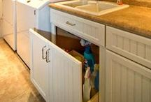 Laundry & Lockers / The laundry becomes a delightful work space - combining style and function. Lockers keep your family organized with the chaos of life.