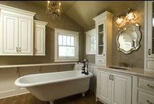 Bathroom Spaces / The bath is a place of renewal where you can luxuriate in a world of your own. In its unique design, you can meet practical needs with flair and personality. Comfort and style.