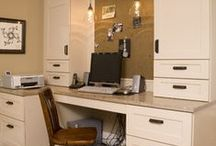 Office Space / Carve a work niche at home to stay organized and on top