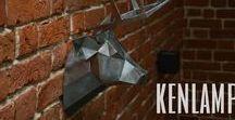 Polygonal metall / #polygonal #lowpoly #loft #interior #steel #origami #polygonalart #handmade