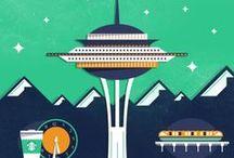 Seattle: dicas e lugares / Dicas de viagem, coisas para ver, comer e fazer em Seattle.