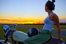 Ridin' / Born and raised Harley girl. Outlaw for life. ;) / by Erin Jacobsen