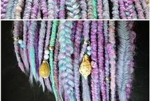SYNTHETIC DREADS MADE BY ME / Sythetic dreads are very cool alternative for those, who doesn't want to dread their real hair. You can mix any colors you want and really stand out from the crowd :)