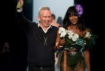 Jean Paul Gaultier / Gaultier is a French haute couture fashion designer who is best known for producing sculptured costumes for Madonna, starting with her infamous cone bra for her 1990 Blond Ambition Tour. Fast-forward to 09/27/2014: Jean Paul Gaultier showed his last Ready-To-Wear collection at PFW focusing now on his couture, fragrance and accessories output.
