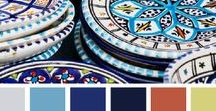 Folk color palette / lo schema dei colori nell'arte popolare / the color scheme in the folk art