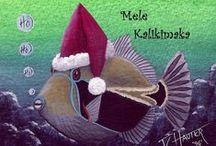 Hawaiian Holiday Greetings / Aloha! Every holiday gets better with a Hawaiian theme :D