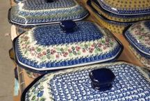Covered Bakeware - Polish Pottery / Oven & Microwave Safe Polish Pottery Bakeware