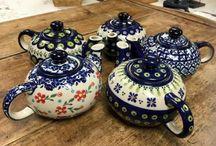 Teapots - Polish Pottery / Microwave & Dishwasher Safe Polish Pottery Teapots
