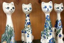 Figurines - Polish Pottery / Handpainted Polish Pottery Figurines