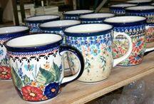 Mugs & Cups - Polish Pottery / Oven & Microwave & Dishwasher Safe Polish Pottery Mugs