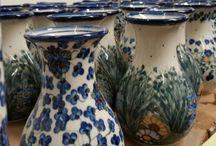 Vases - Polish Pottery / Hand painted Polish Pottery Vases