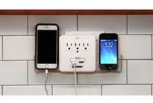 Tech and Gadgets / Make the most of electrical outlets or reduce power cord chaos.
