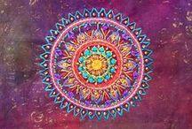 Mandala / Mandala (Sanskrit: मण्डल Maṇḍala, 'circle') is a spiritual and ritual symbol in Hinduism and Buddhism, representing the Universe
