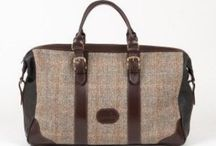 Arisaig Weekend Bag - new from Dunmore Scotland / Luxurious new suede-lined weekend bag in leather, Harris Tweed, Black Watch tartan or fabric.