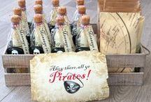 Pirate Party / Invite them for your Pirate Party with an amazing Invitation in a Bottle!!! http://www.invitationinabottle.com/Pirate_Parties_s/19.htm