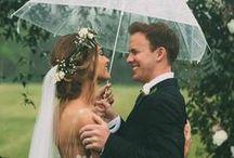 Hochzeit im Regen / Es gibt kein schlechtes Wetter... Ideen, wenn der Hochzeitstag buchstäblich ins Wasser fällt. Fotoshootings können auch bei Regen zu wunderschönen Bildern führen.