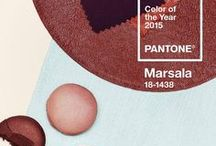 Hochzeitsmotto Marsala / Inspirationsboard für eine Hochzeit in der Pantone-Trendfarbe 2015 Marsala
