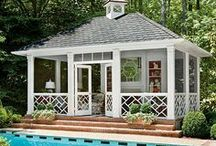 Cool Pool Houses / Need a place to kick back after a dip in the pool? These cool pool houses are perfect for dripping swim trunks!