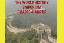WORLD HISTORY EMPORIUM / Countries of the world, world history, geography, famous people in world history. 3 resources a day. Grades 4-up.If you would like to pin to World History Emporium,please email me at geshrwh@hotmail.com and I will be happy to invite you. My website for teachers/kids-Check it out: http://www.gailhennessey.com