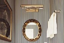 Sassy Stripes / Check out these sassy-striped bathrooms for some bathroom inspiration!