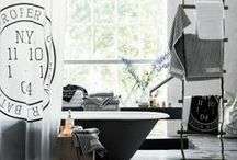 Black and White / Check out these B&W bathrooms for some bathroom inspiration!