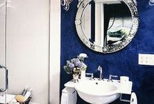Bold Blues / Check out these bold blue bathrooms for some bathroom inspiration!