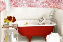 Ravishing Reds / Check out these ravishing red bathrooms for some bathroom inspiration!