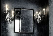 Black is the New Black / Check out these bold black bathrooms for some bathroom inspiration!