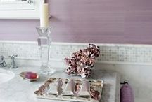 Pretty Purples / Check out these pretty purple bathrooms for some bathroom inspiration!