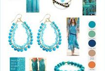 Turquoise / InTu jewelry design with meaning | Inspirational Colorboard scuba blue turquoise