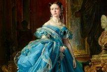 HISTORICAL TURQUOISE & BLUE DRESSES / HISTORICAL TURQUOISE & BLUE DRESSES