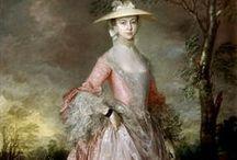 HISTORICAL SALMON & ORANGE PRINTED DRESSES / HISTORICAL SALMON & ORANGE PRINTED DRESSES