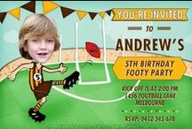 Afl Party / An Aussie Rules Football Party inspiration board. For Birthday Cakes to make, decorations, games and party ideas to do with AFL footy. Most of the stuff is from Austalia based sites with a few ideas grabbed from here and there.